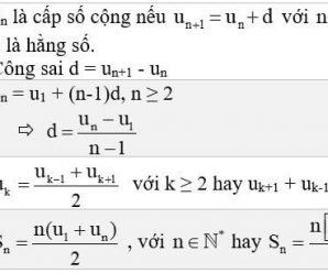 Các dạng bài tập cấp số cộng