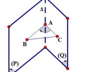 Công thức tính góc giữa 2 mặt phẳng