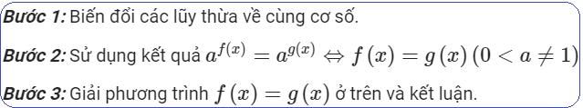 Phương pháp đưa về cùng cơ số