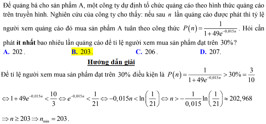 bài toán thức tế hàm số mũ