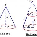 [8+] Thể tích hình nón, diện tích xung quanh hình nón, diện tích toàn phần hình nón