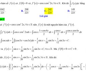 Bảng 8 công thức tích phân cơ bản cần nhớ