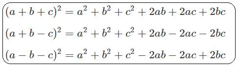 Bộ hằng đẳng thức bậc 2