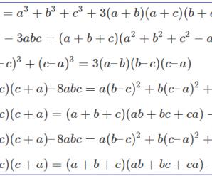 7 hằng đẳng thức đáng nhớ và 2 bộ mở rộng