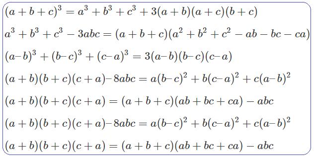 Bộ hằng đẳng thức bậc 3