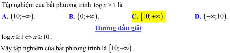 Bất phương trình logarit