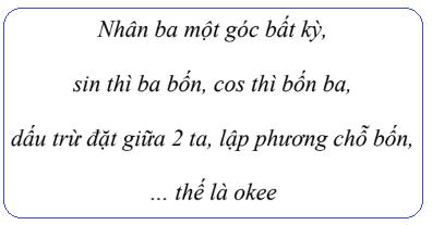 thơ công thức nhân ba