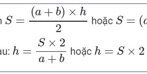 Công thức tính diện tích hình thang: vuông, cân, thường
