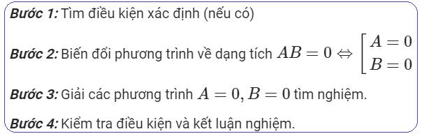Đưa về phương trình tích