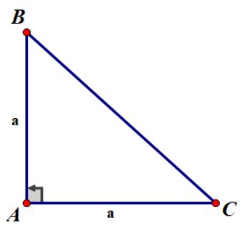 Diện tích tam giác vuông cân