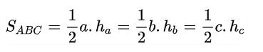 công thức diện tích tam giác thường gặp