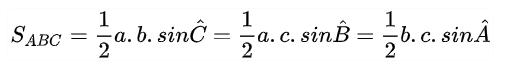 biết góc tam giác thì diện tích