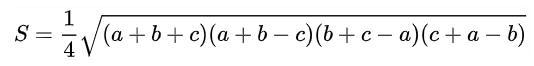 công thức heron cho tam giác