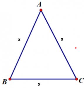 Chu vi tam giác cân