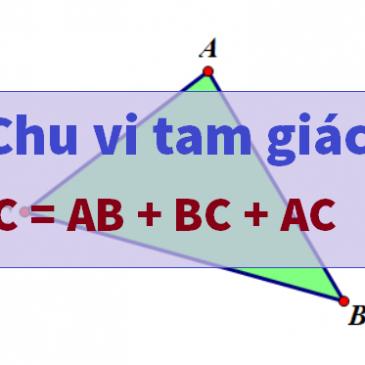 Cách tính chu vi tam giác vuông, cân, thường, đều