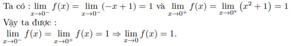 phương pháp tìm giới hạn hàm số