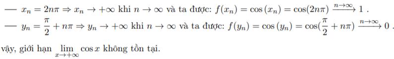 giới hạn hàm số lượng giác