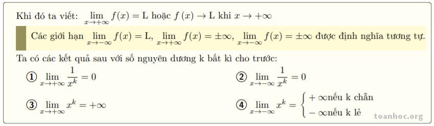 Giới hạn của hàm số