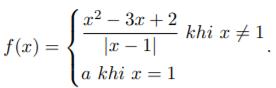 Xét tính liên tục của hàm số tại một điểm