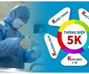 5K là gì? Thông điệp 5K của Bộ Y tế trong phòng chống dịch Covid-19