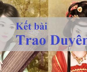 13 Kết bài trao duyên của Nguyễn Du