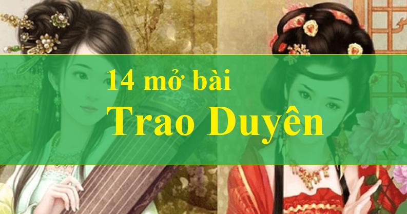 14 mở bài trao duyên của Nguyễn Du