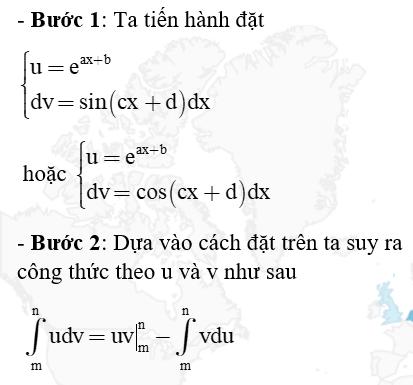 công thức tính tích phân từng phần