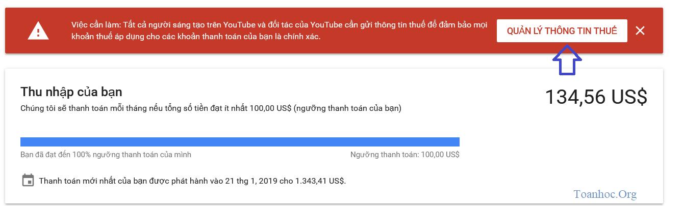 Thủ thuật Verify TAX Google Adsense gà việt