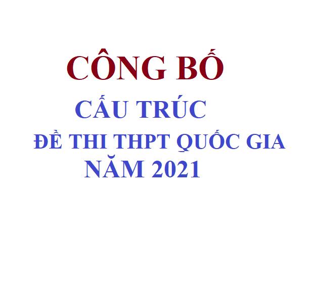 Cấu trúc đề thi THPT Quốc Gia năm 2021 theo đề tham khảo của bộ GD&ĐT