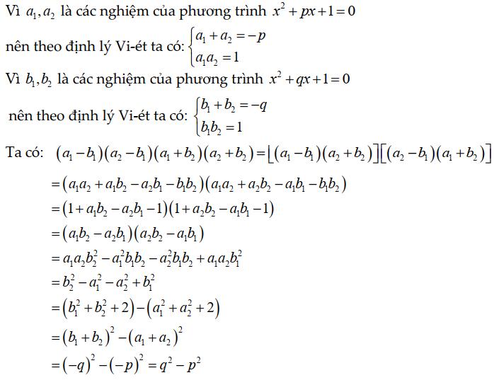 bài tập ứng dụng định lý viet