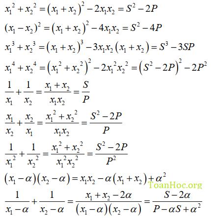 định lý viet bậc 2