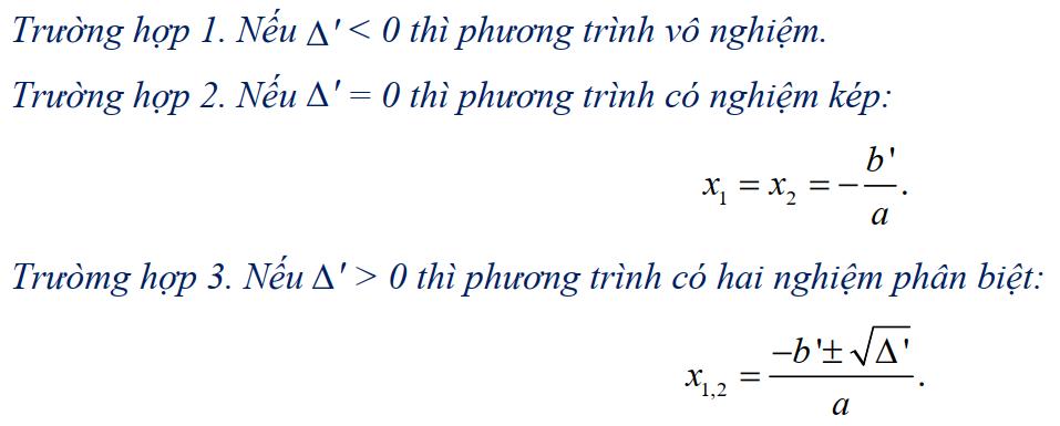 giải phương trình bậc 2