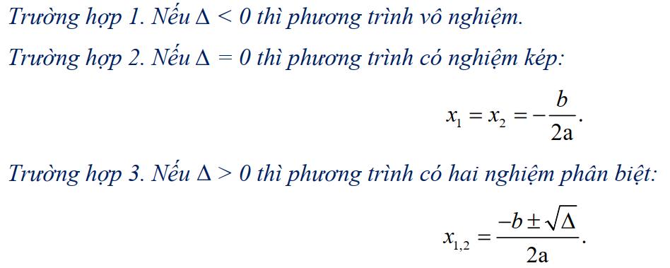 nghiệm phương trình bậc 2