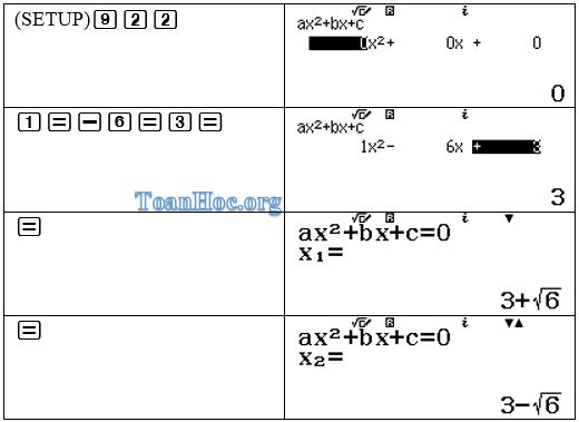 Cách bấm phương trình bậc 2
