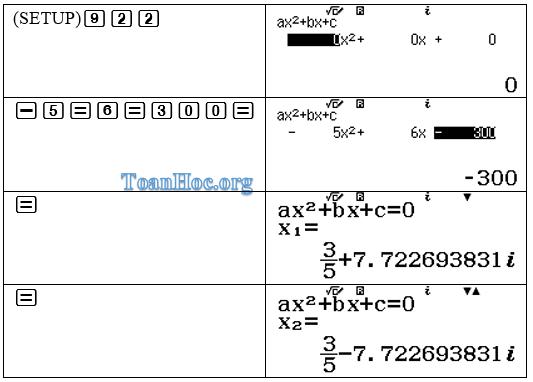 Cách giải phương trình bậc 2 bằng máy tính casio fx580vn