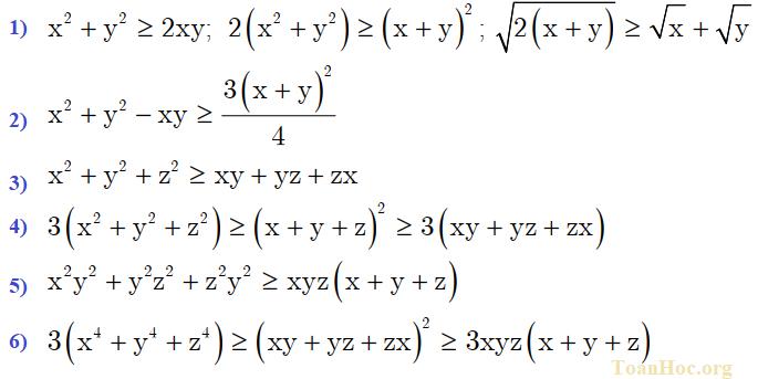 bài tập bất đẳng thức cosi